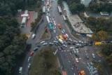 В Киеве образовались пробки из-за обвала моста, я не